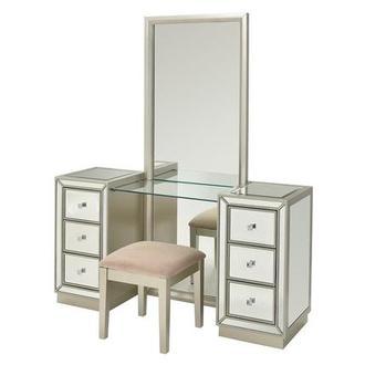 Amia Vanity Shared Girls Bedroom Vanity Dressing Table Design