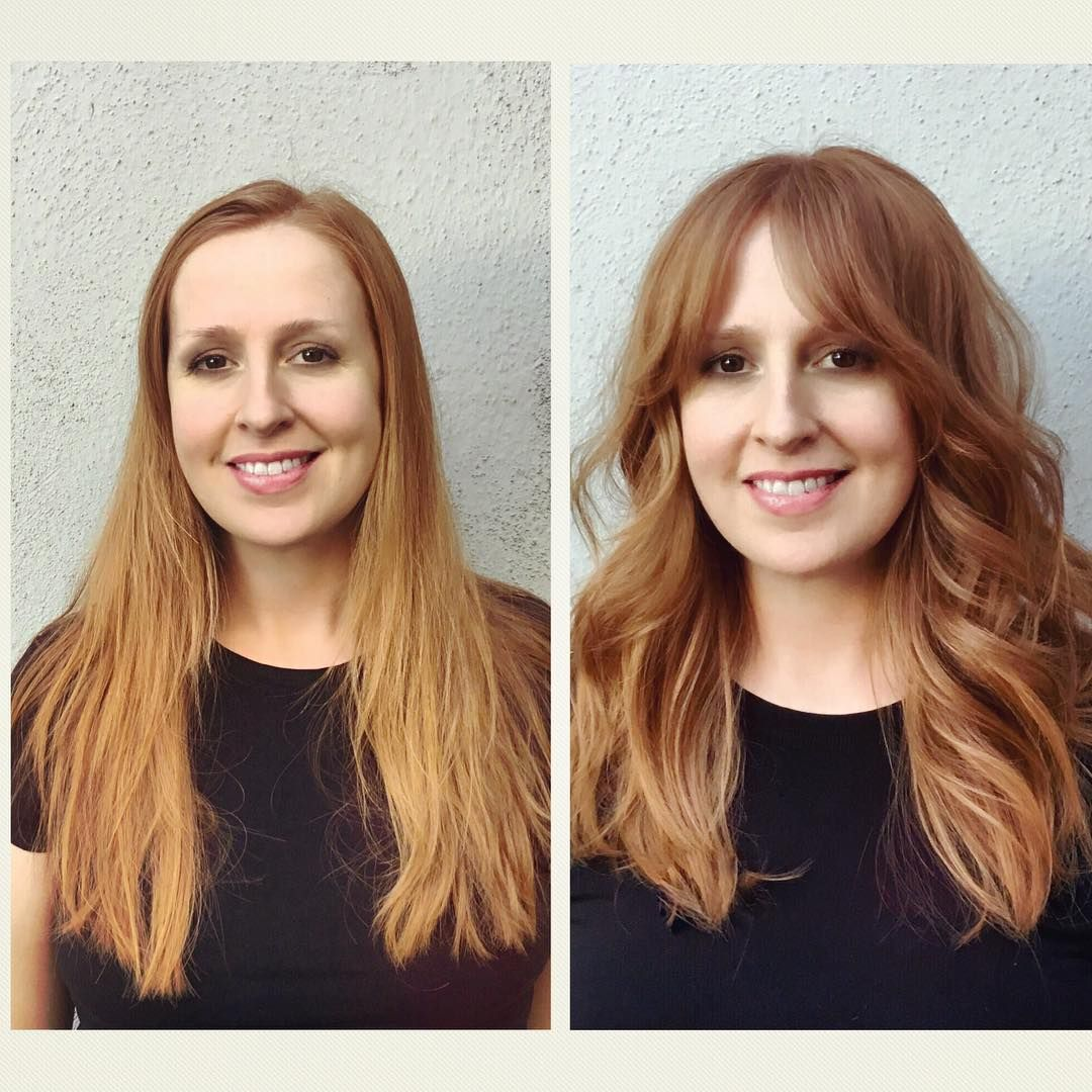 Pretty Layers With Curtain Bangs Layers Bangs Curtainbangs Long Hair Styles Hair Styles Layerd Hair