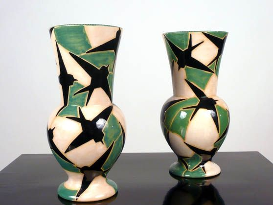 Manlio trucco stormo di rondini vasi in ceramica di albissola