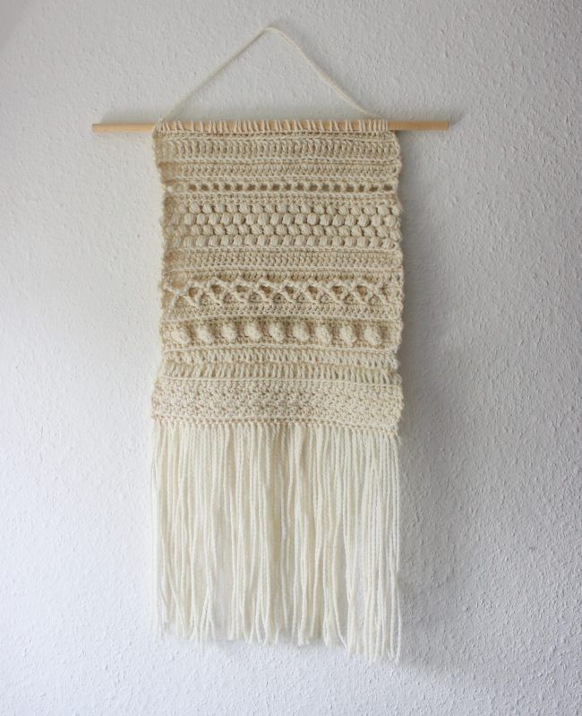 Crochet With Kath Textured Wall Hanging Tutorial Lovecrafts