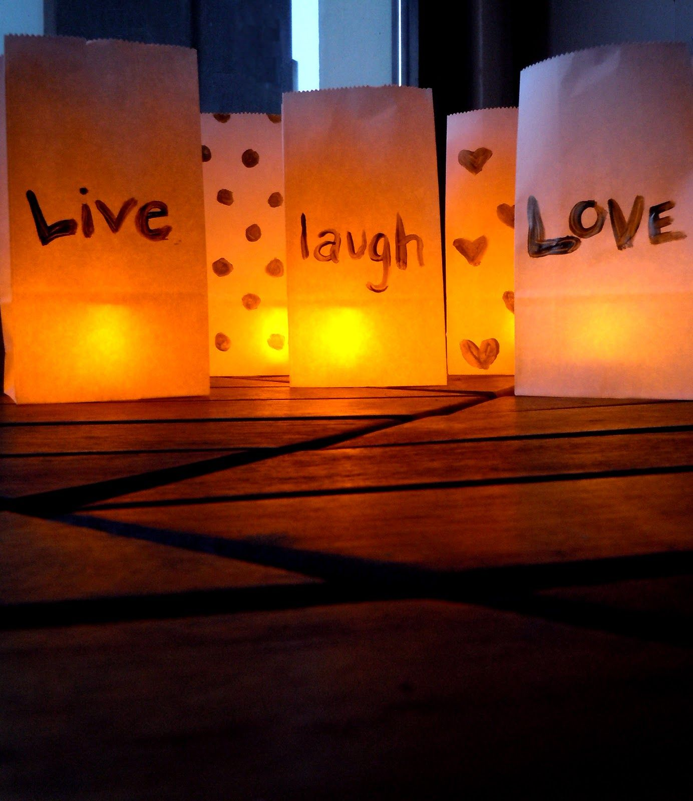 Decorate for an outdoor party with these easy DIY Paper Bag ... for Paper Bag Lanterns Diy  156eri
