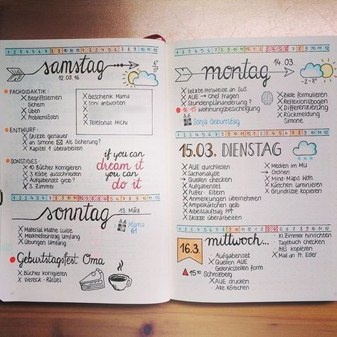 Bullet Journal - was ist das | Tagebuch, Kalender und Journal ideen