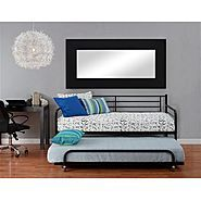 Dhp Black Daybed Trundle At Kmart Com Metal Daybed Mattress