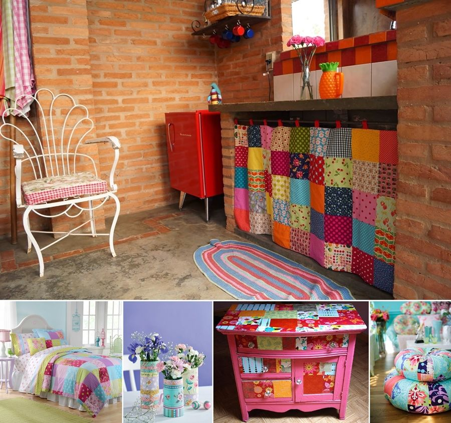 15 Awesome Ideas to Decorate Your Home with Patchwork - http://www.amazinginteriordesign.com/15-awesome-ideas-to-decorate-your-home-with-patchwork/
