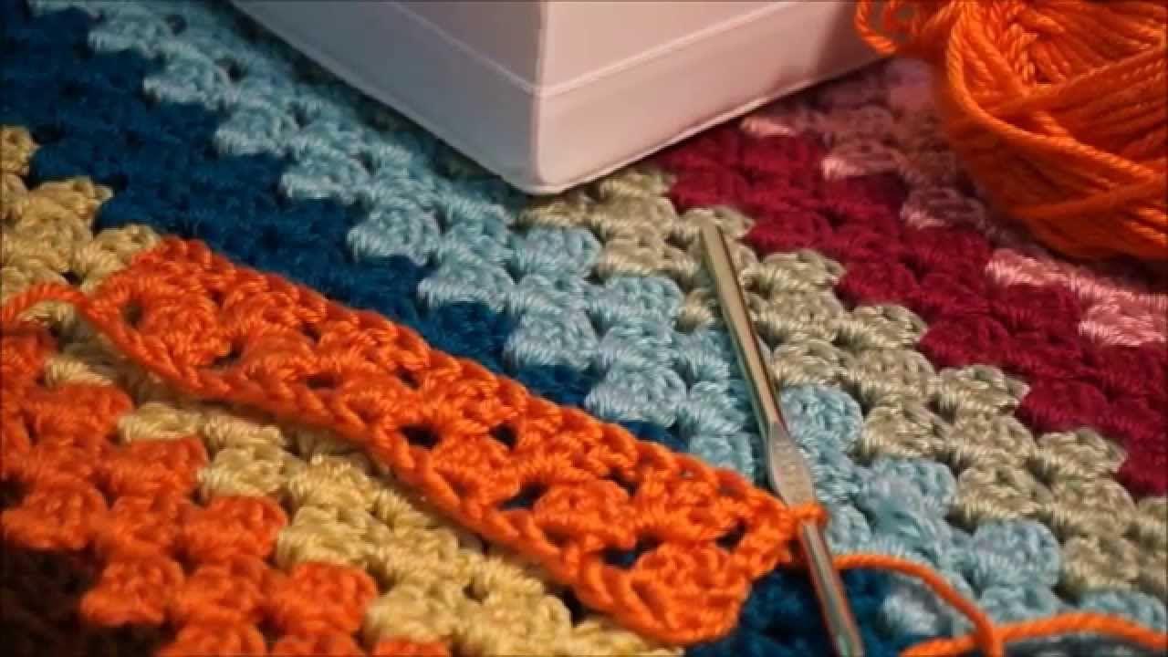 How to crochet the granny stripes blanket - YouTube   Strik, hækle ...