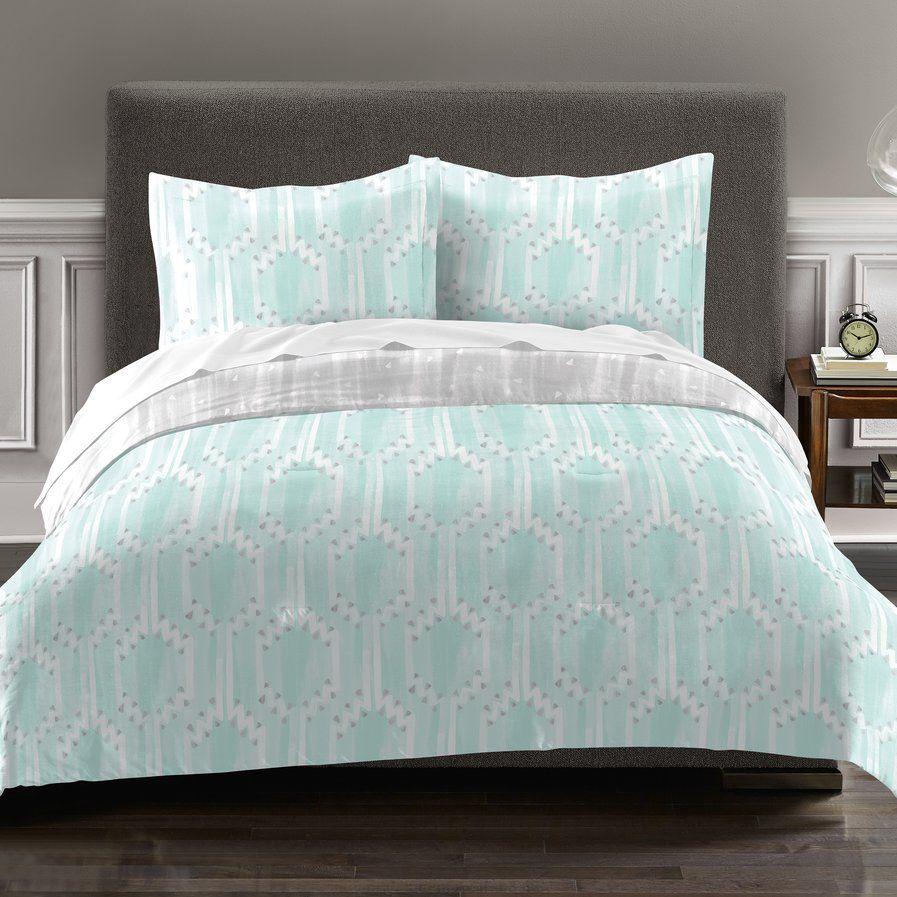 Earl 100% Cotton 2 Piece Reversible Comforter Set ...