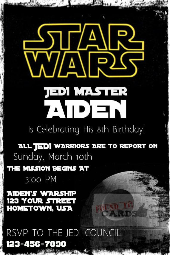 Star Wars Birthday Party Invitation Fully By FoundItCards On Etsy 1000