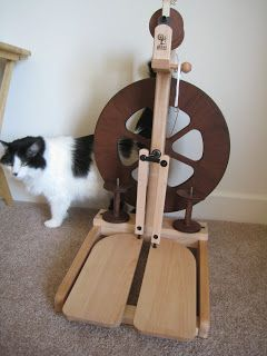 The Purled Ewe: Wood finishing for beginners (or how we finished my Kiwi 2). (I am thinking hard about this wheel ~RB)