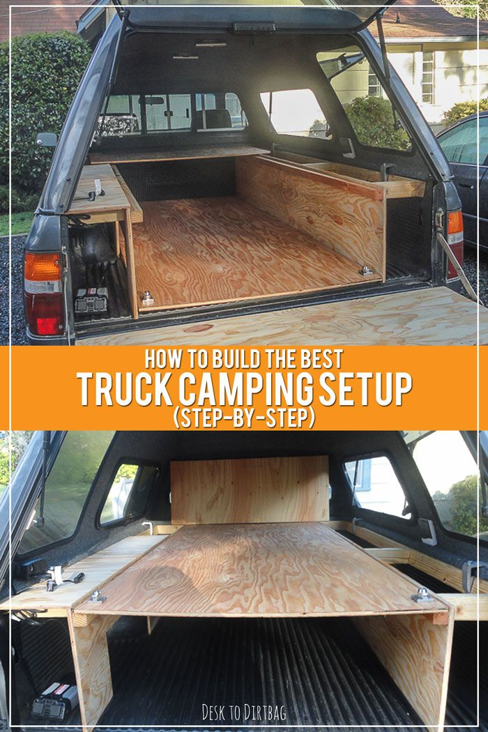 Want To Turn Your Truck Into The Ultimate Adventure Mobile Here S A Step By Step Guide On How To Build Truck Bed Camping Diy Truck Bedding Truck Camper Shells