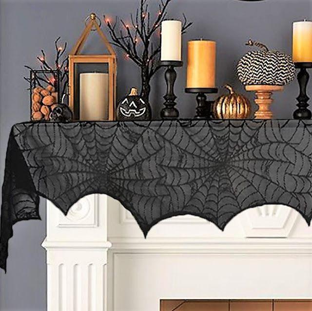 A Spooky, Chic Halloween Mantel halloween Halloween, Chic