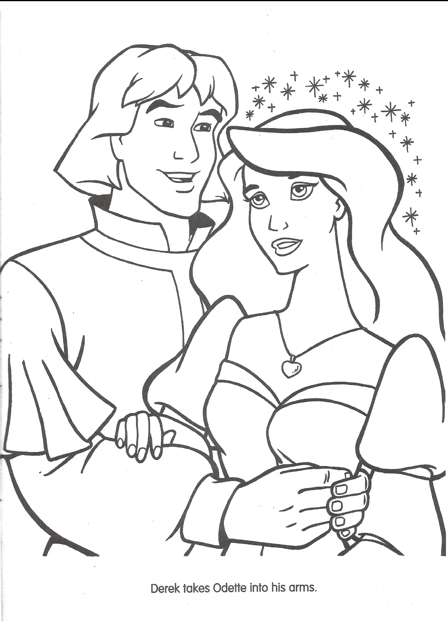 The Story Of The Swan Princess G Princess Coloring Pages