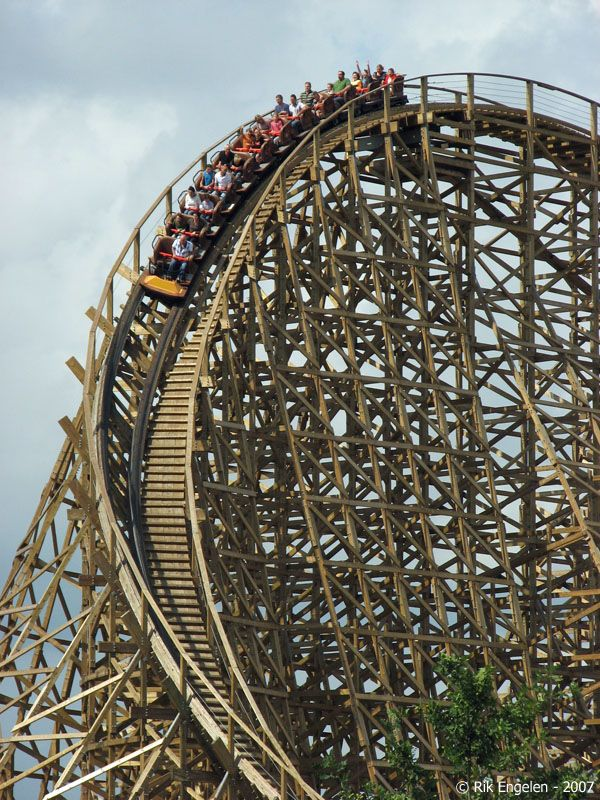Troy Toverland Sevenum Limburg Netherlands Roller Coaster Ride Roller Coaster Roller Coaster Theme