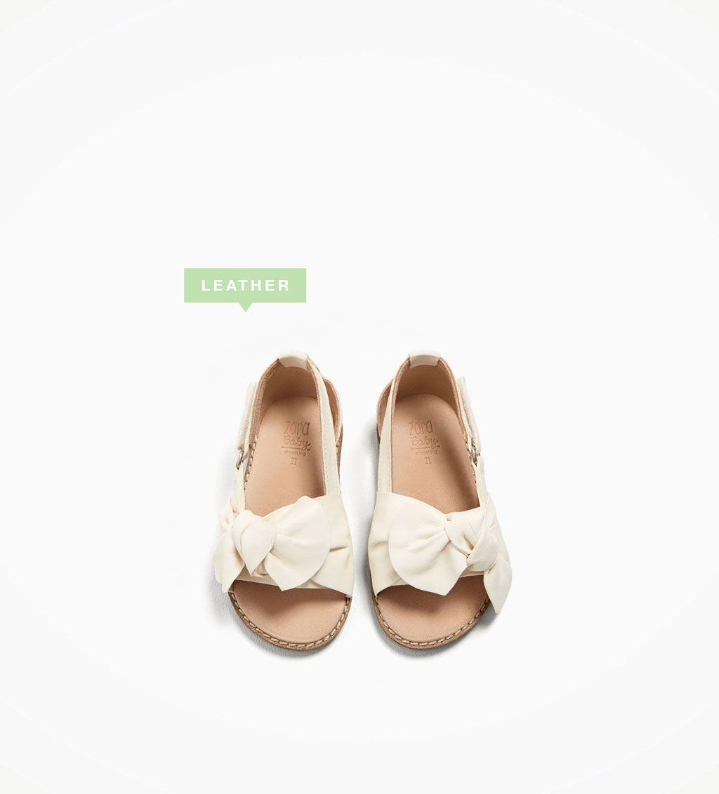 Image 1 Of Leather Sandals With Bow From Zara Kid Shoes Toddler Shoes Children Shoes