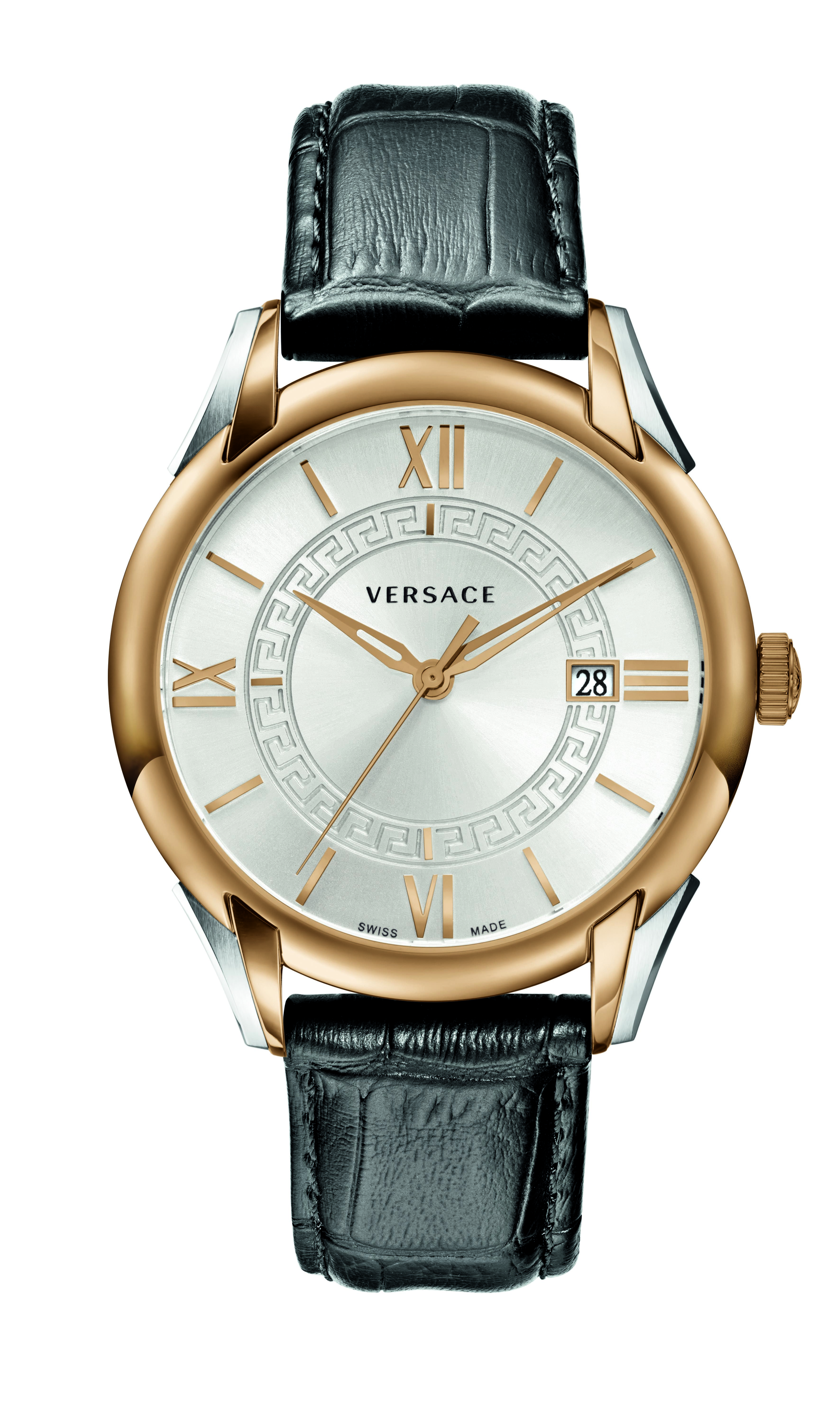 5d03006c The Versace Apollo black watch with rosegold case. #VersaceWatches ...
