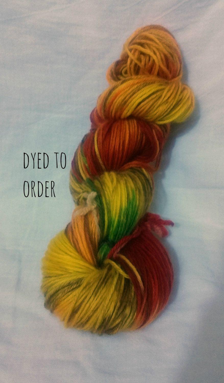 Autumn Leaves HandDyed / HandPainted Yarn Superwash