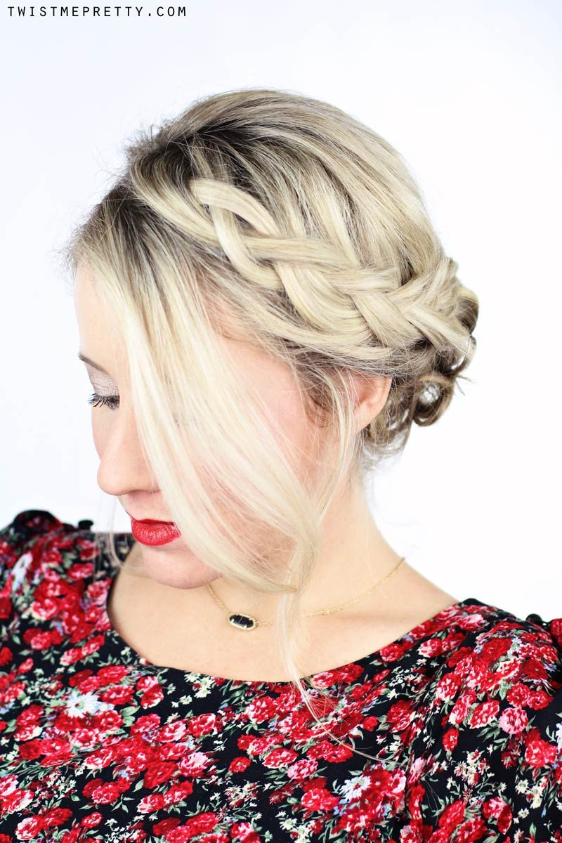How To Simple Braided Updo With Kenra Professional Hair Style For