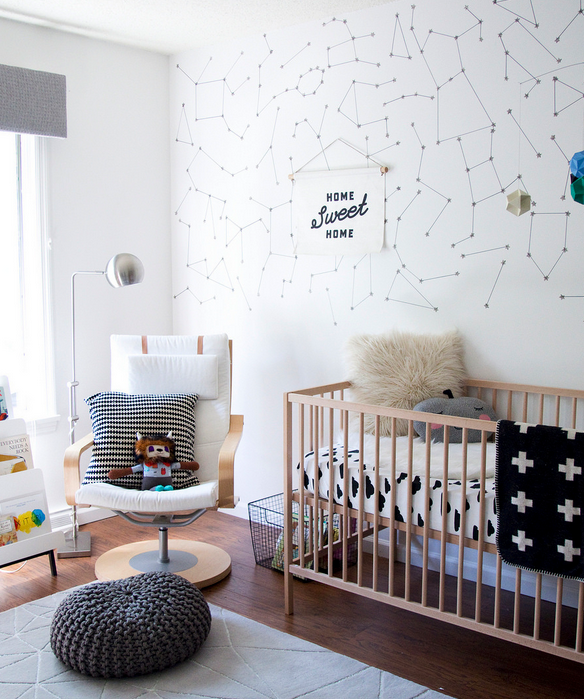19 Adorable Ideas For Decorating Small Nursery: This Space-themed Nursery Is Gender-neutral And Oh So