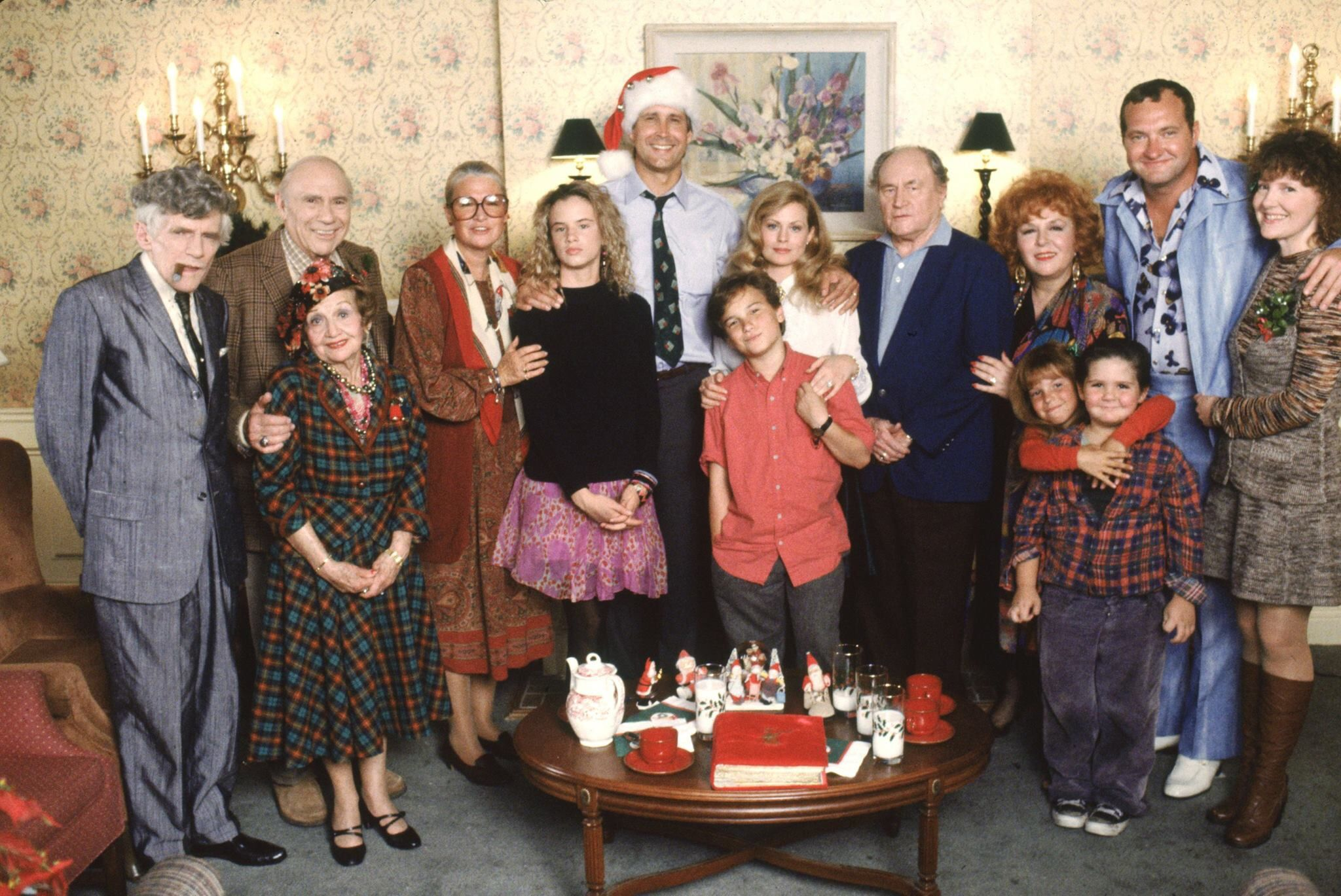 Natl Lampoons Cast Christmas vacation movie, Christmas
