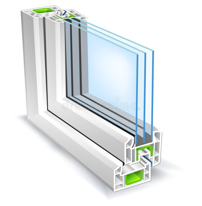 Window Profile With Tree Glass Surface Vector Illustration Aff Tree Profile Window Glass Illustra Soundproof Windows Sound Proofing Glass Repair
