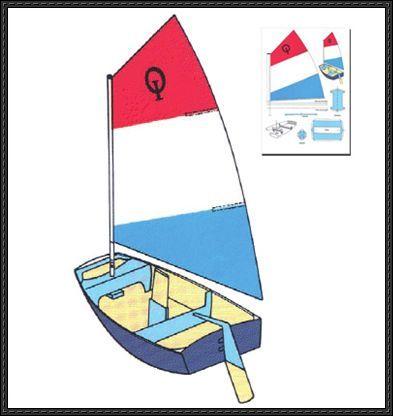 optimist sailing boat free paper model download nieuwe