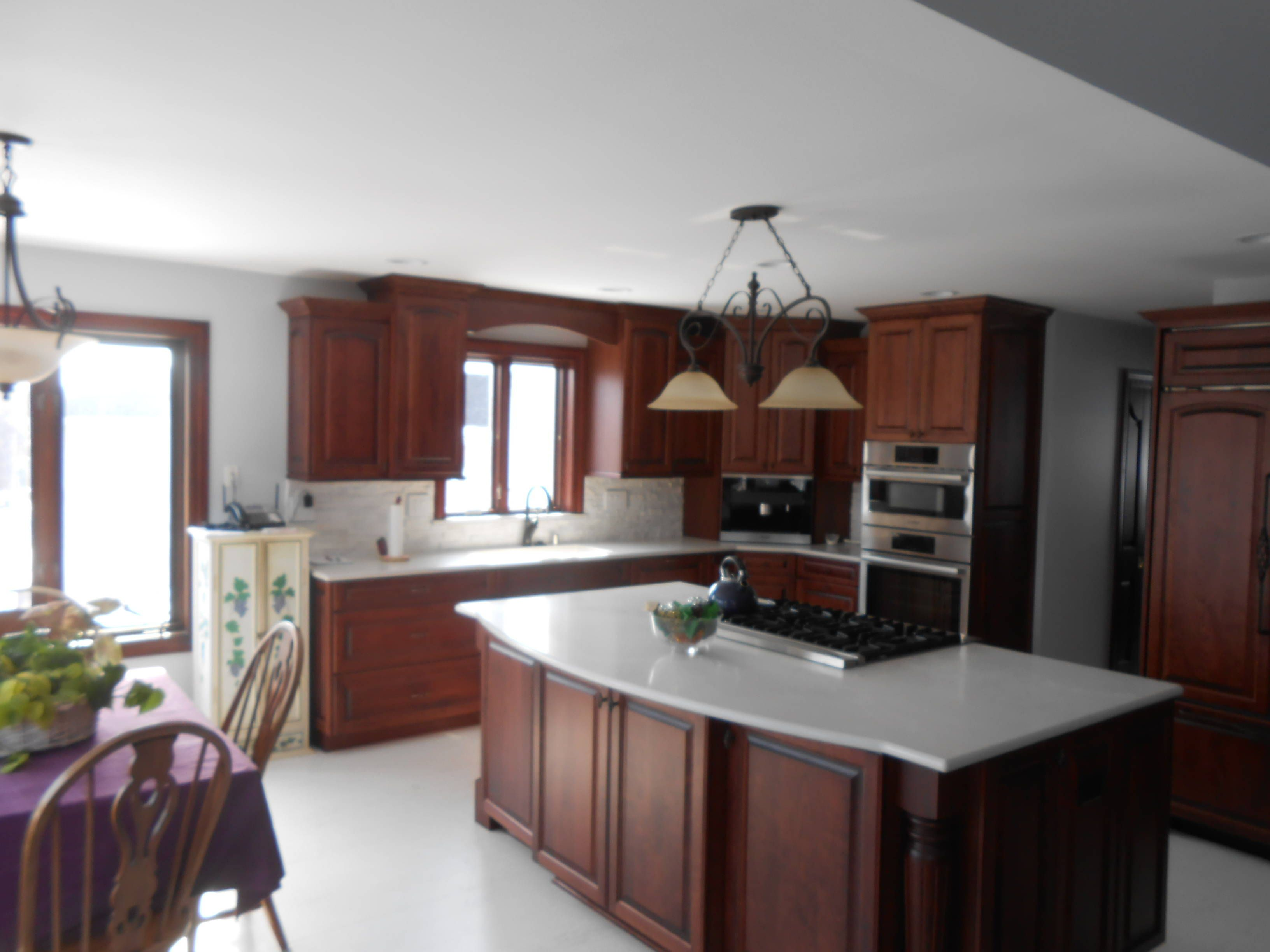 angled kitchen island with sink - Google Search