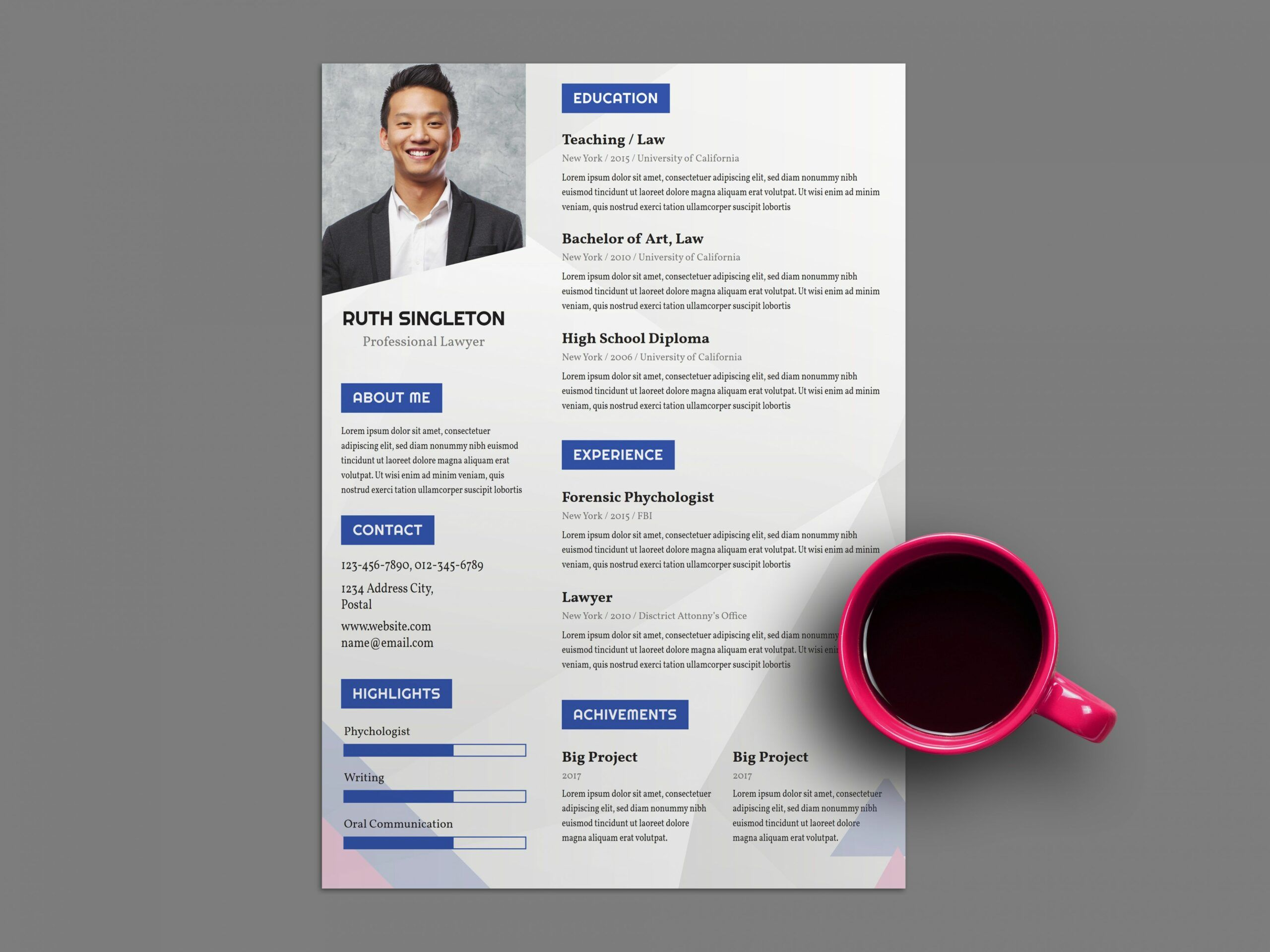 free lawyer resume template