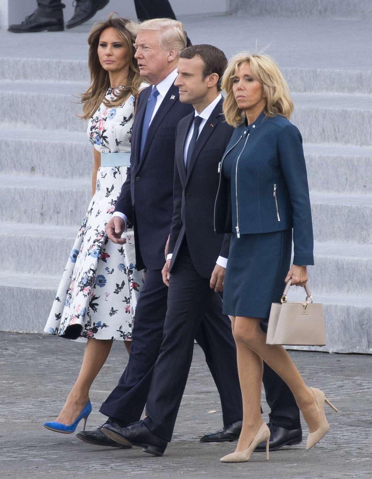 Brigitte Macron et Melania Trump : un duo chic pour le 14 juillet - Elle