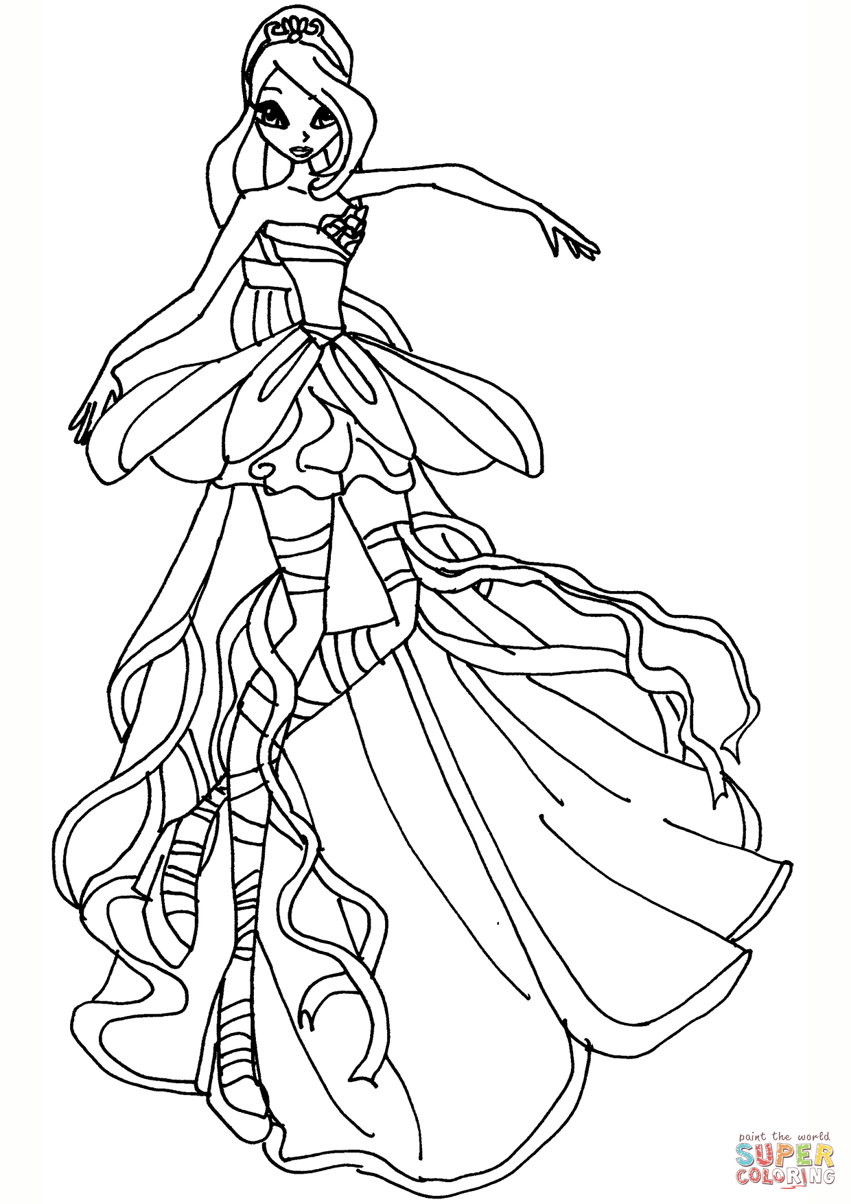 Risultati immagini per disegni da colorare principesse