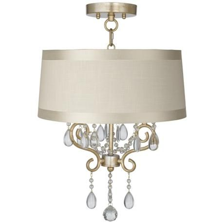 Conti 16 Wide Ceiling Light With Off White Drum Shade Ceiling
