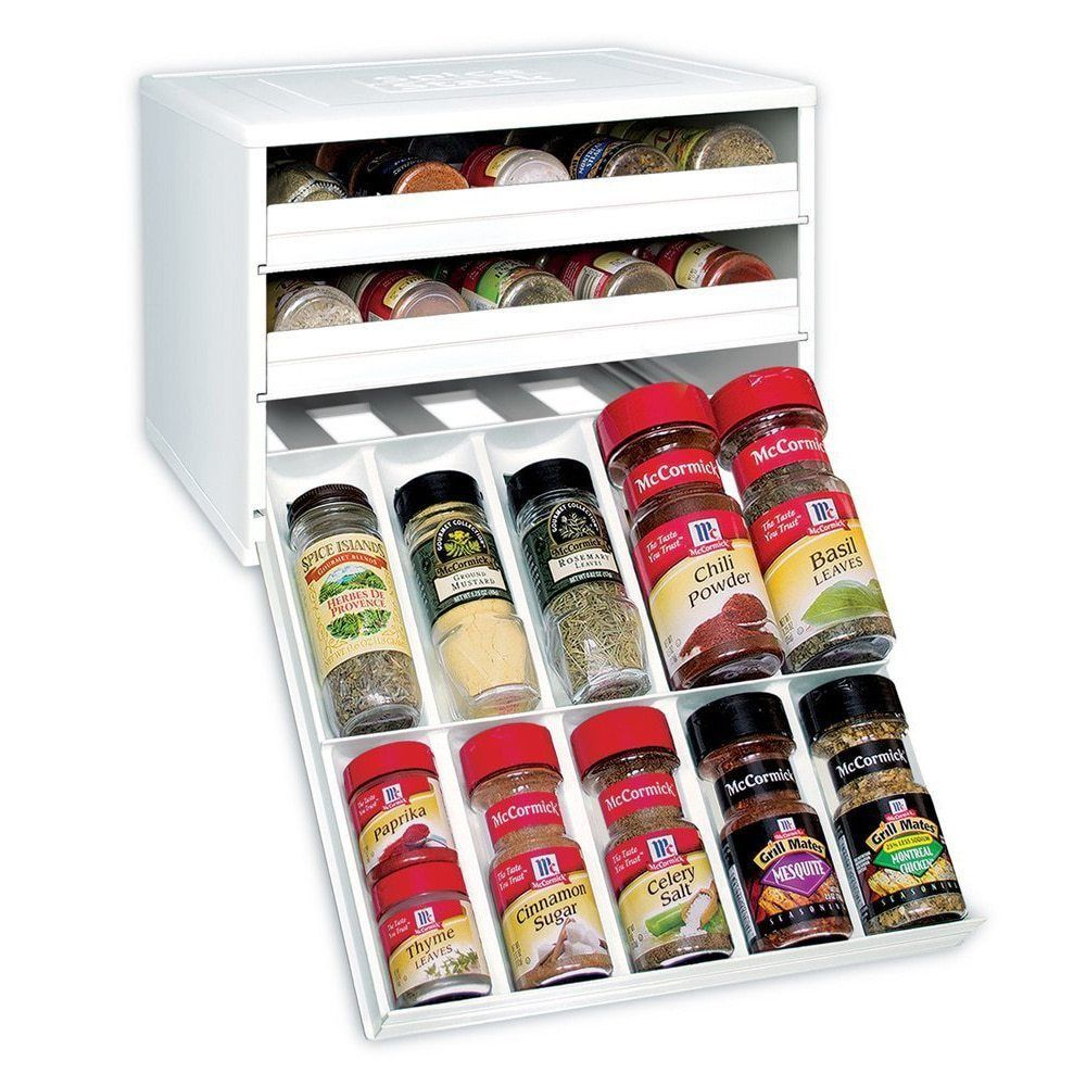 Spice Racks For Kitchen Cabinets Drawers Spices Kitchen Organizer - Plastic spice racks for kitchen cabinets