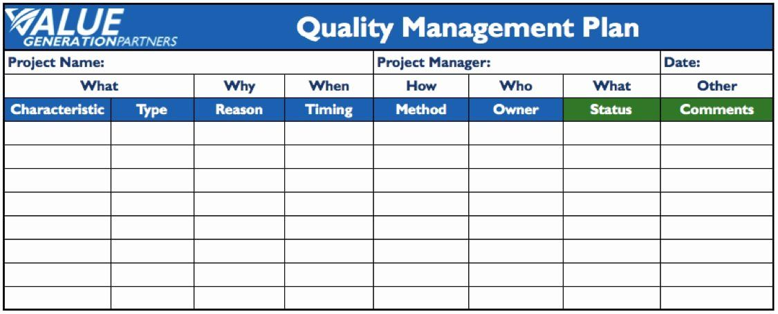 25 Quality assurance Plan Templates in 2020 Marketing
