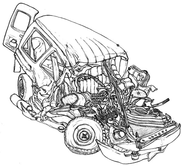 Crashed Cars Coloring Pages Netart Cars Coloring Pages Coloring Pages Coloring Pictures