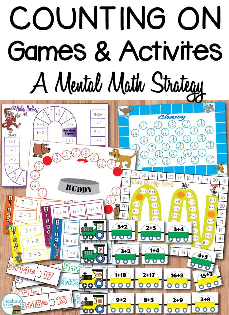Addition Strategies - Counting On | Addition strategies, Count and ...