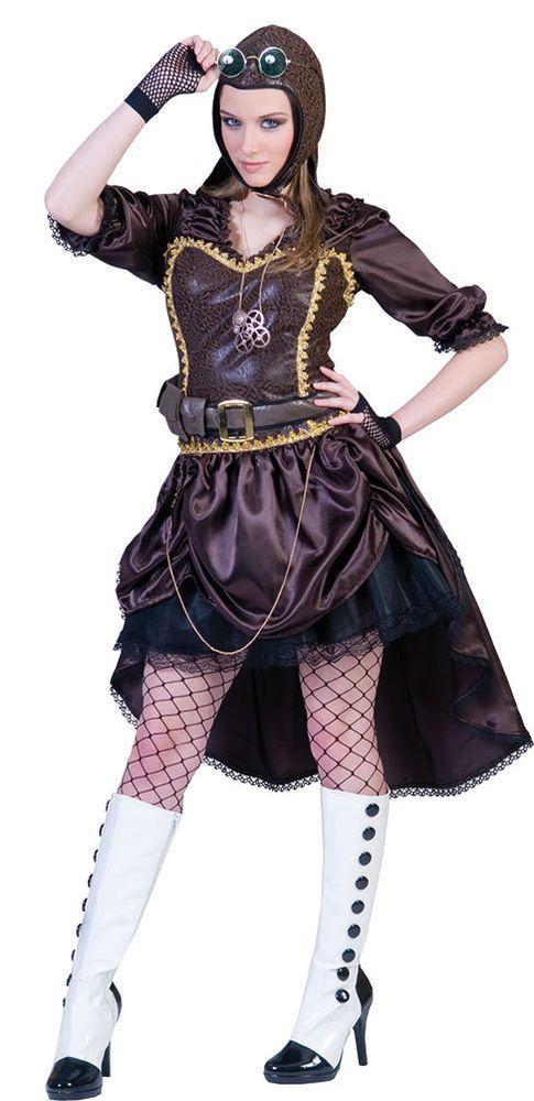 Rokoko Kostüm Damen Barock Damen-Kostüm Kleid lang schwarz gold Viktorianisch KK