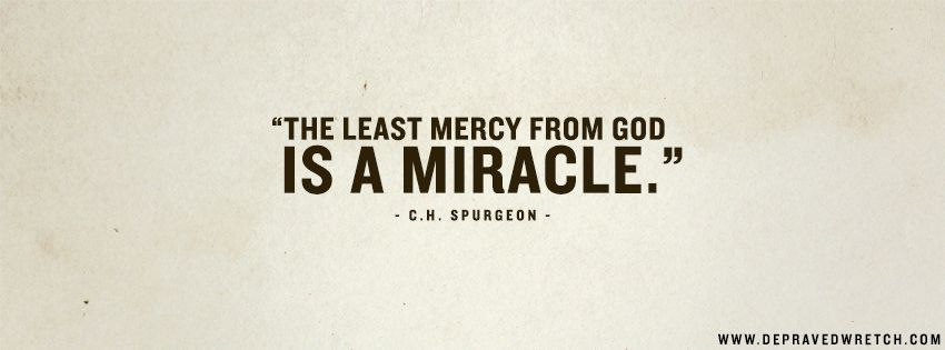 God's Mercy is a Miracle