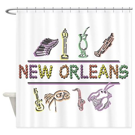 New Orleans Mardi Gras Shower Curtain By Roxy407 New Orleans