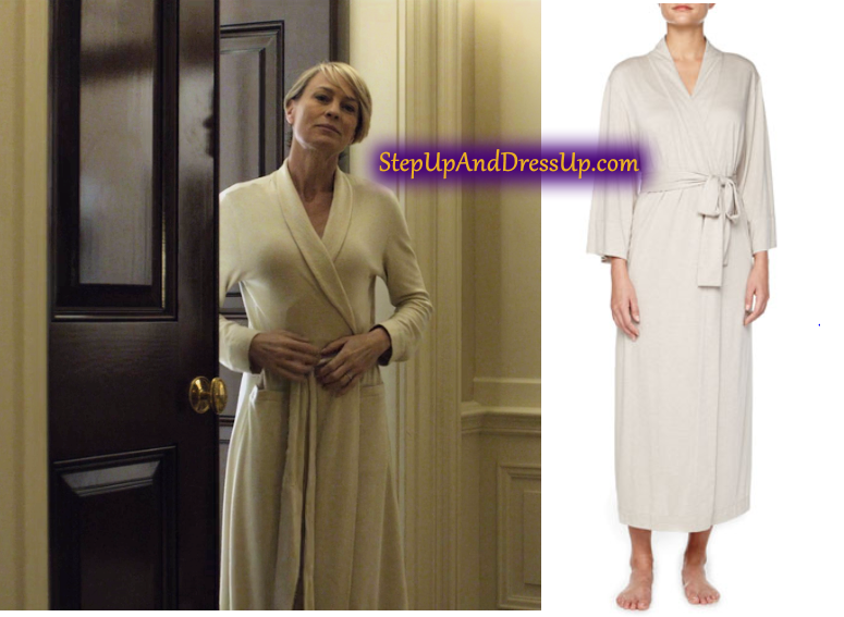 House of Cards, Robin Wright as Claire Underwood wearing a Natori ...