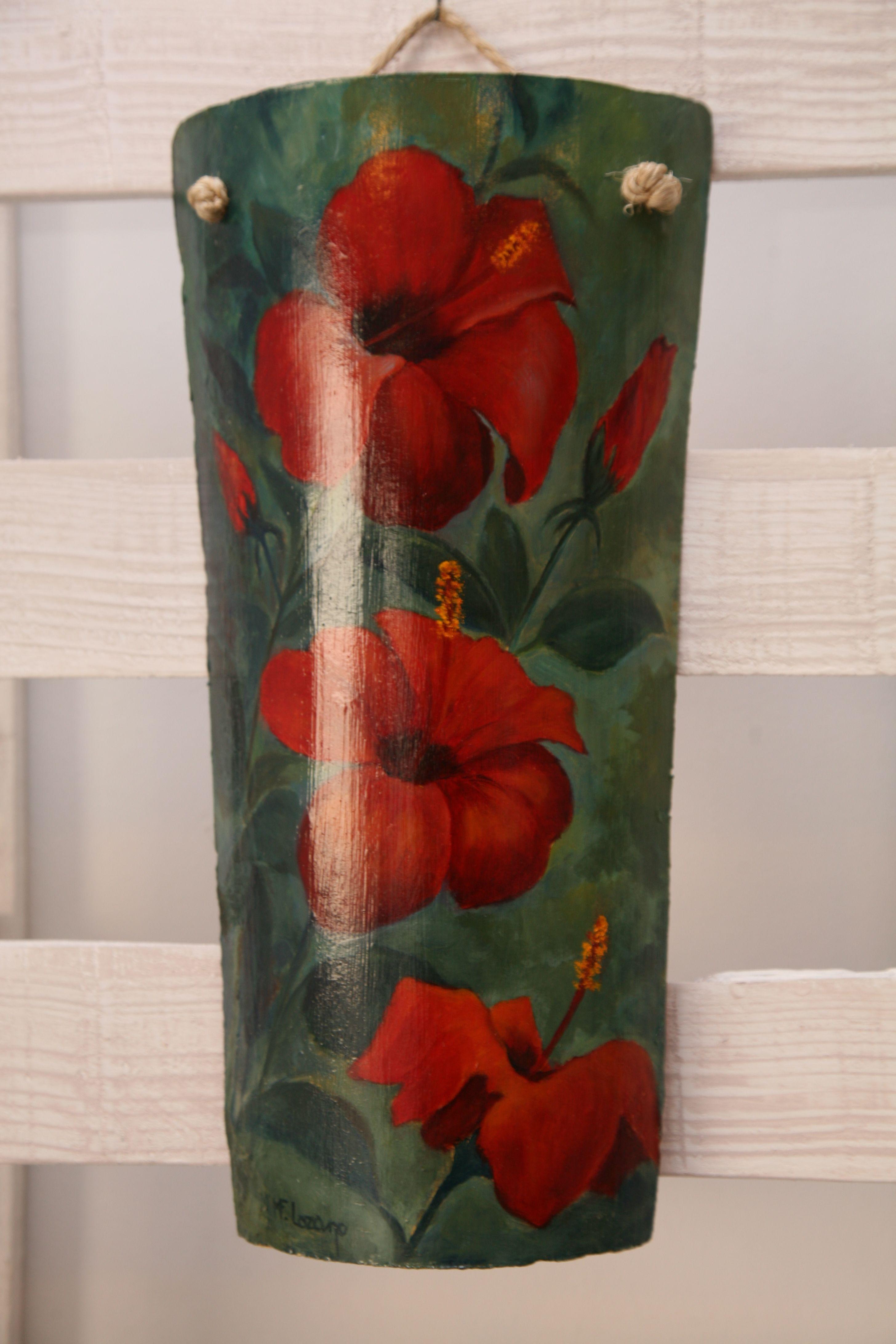Tejas pintadas a mano tejas pintadas a mano tejidos tejas de barro y decorar tejas - Pintar tejas de barro ...