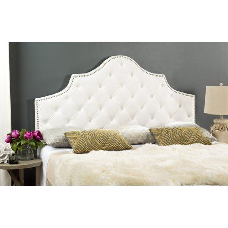 Safavieh Arebelle Rustic Glam Tufted Headboard with Nail ...