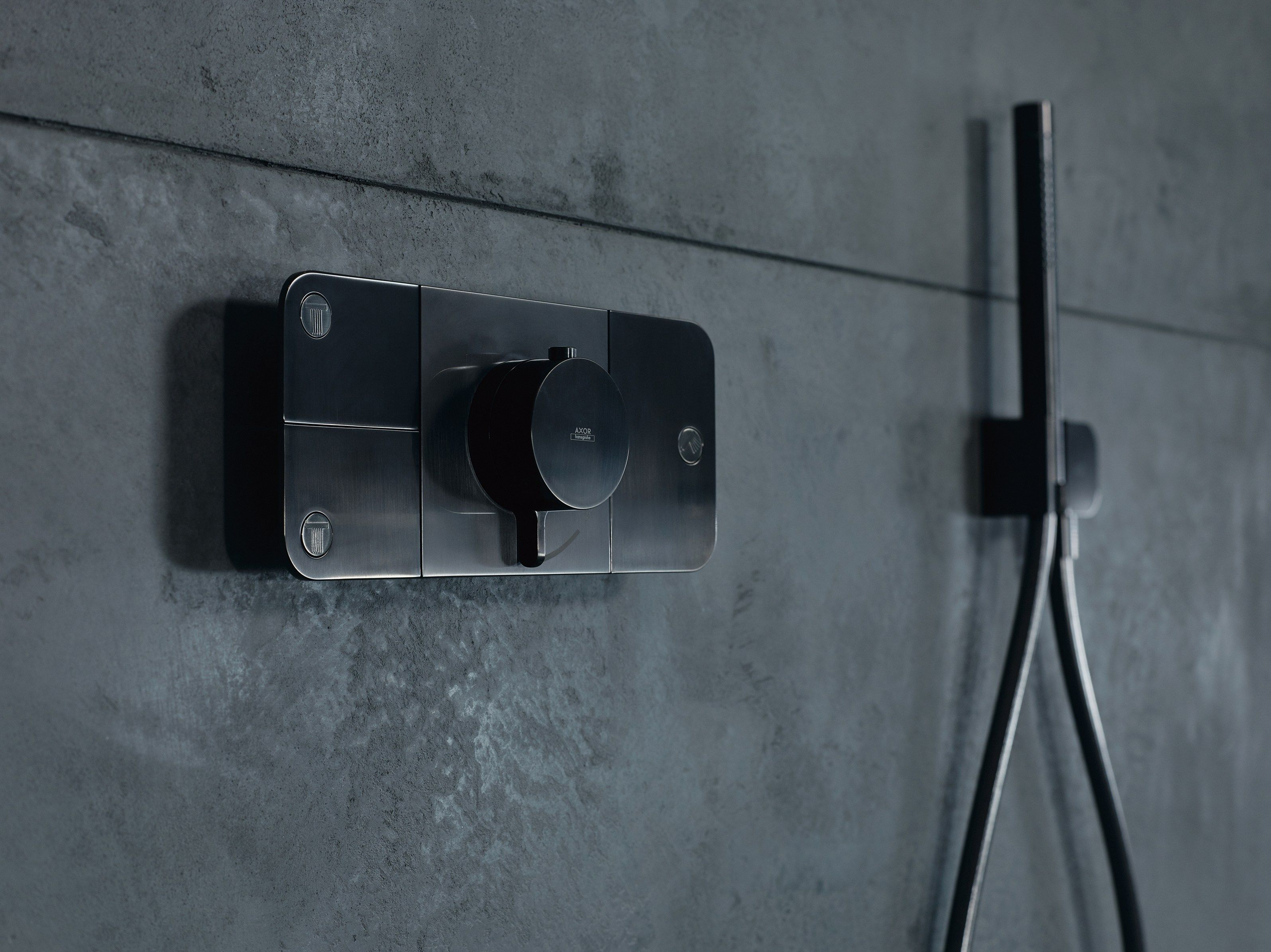 Accessoires Salle De Bain Axor ~ thermostatic shower tap with plate axor one shower tap hansgrohe