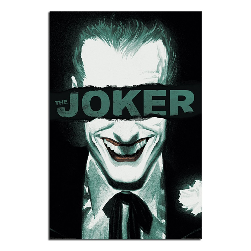 The Joker Put On A Happy Face Poster Happy Face Black And White Joker