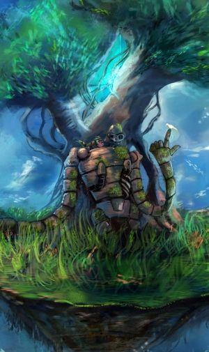 天空の城ラピュタ ロボット兵のiPhone壁紙