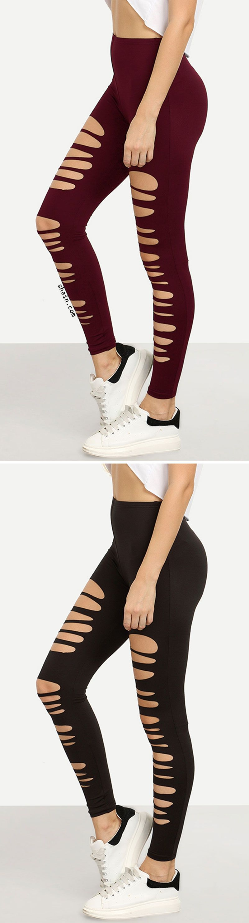 Cut Out Elastic Waist Leggings. More colors alternative. #balletfitness
