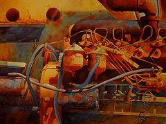 Dana Brown, watercolors -