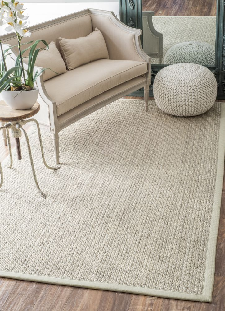 Maui Sisal Amp Wool Sm01 Natural Rug Rugs Sisal Natural