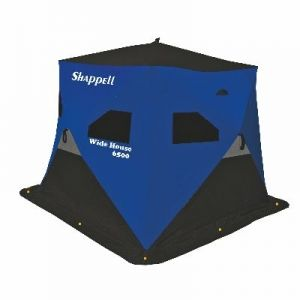 Shappell wide house 6500 hub ice fishing shelter ice for Fleet farm ice fishing