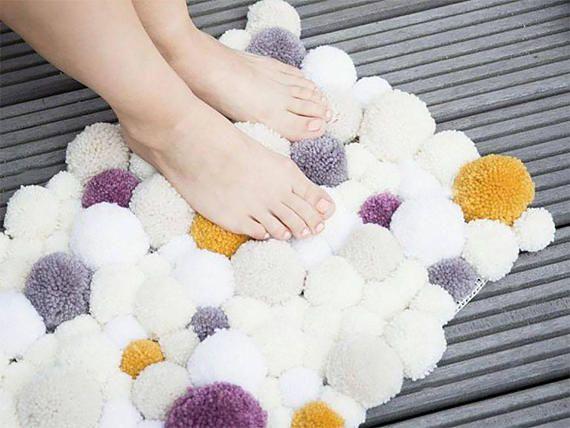 7 Inspiring Kid Room Color Options For Your Little Ones: Handmade Woolen Tassel Rug Very Soft Carpet Ideal For