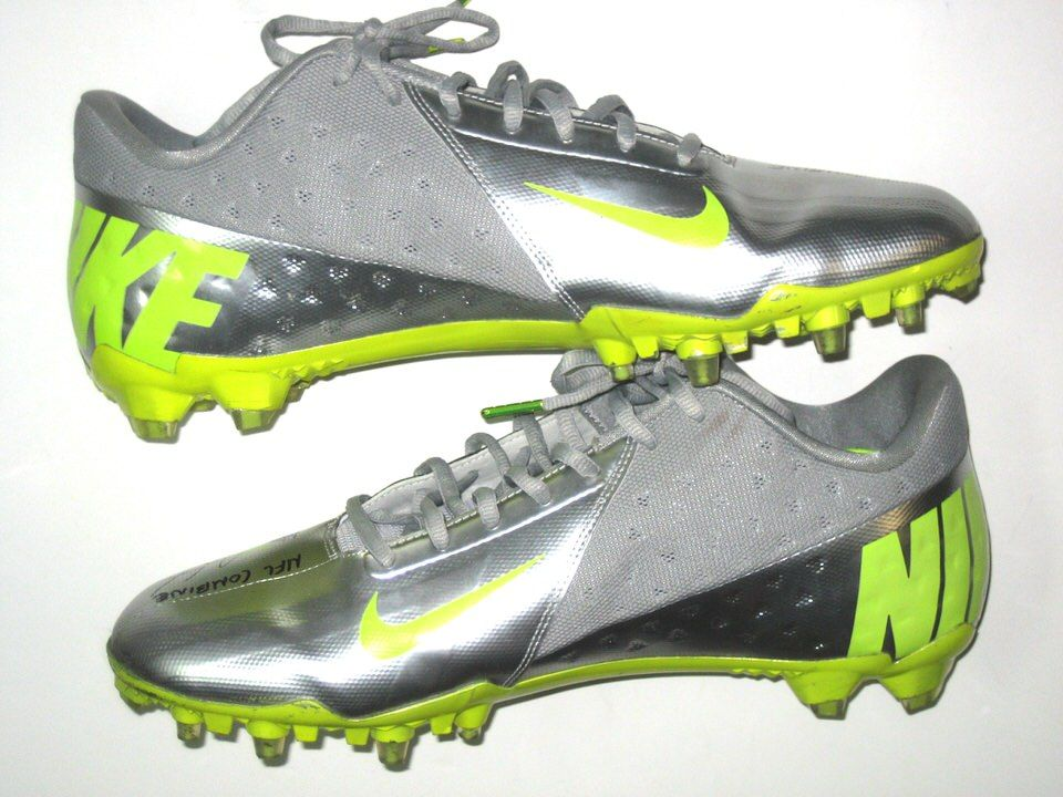 5004e536684 Ryan Spadola 2013 NFL Combine Issued   Signed Silver and Green Nike Vapor  Elite Cleats