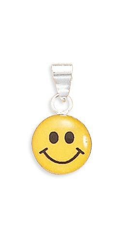 19mm x 105mm sterling silver yellow and black smiley face pendant 19mm x 105mm sterling silver yellow and black smiley face pendant 925 sterling aloadofball Image collections