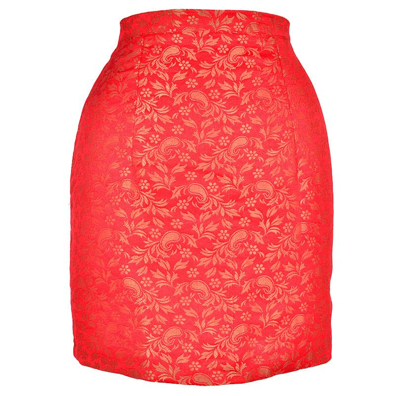Red Midas Pencil Skirt by Style Icon's Closet 50s style Vintage Inspired Pin-Up African Print Retro Rockabilly Clothing